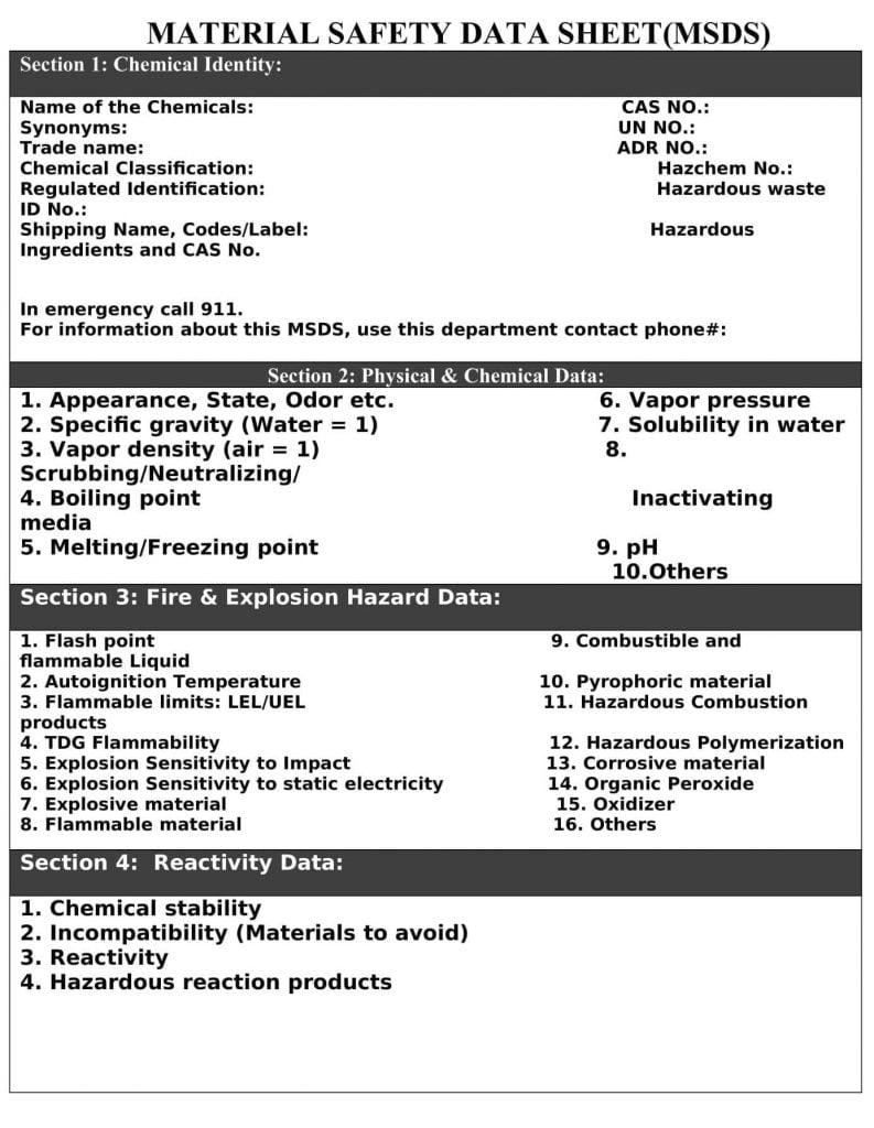 msds-sheet