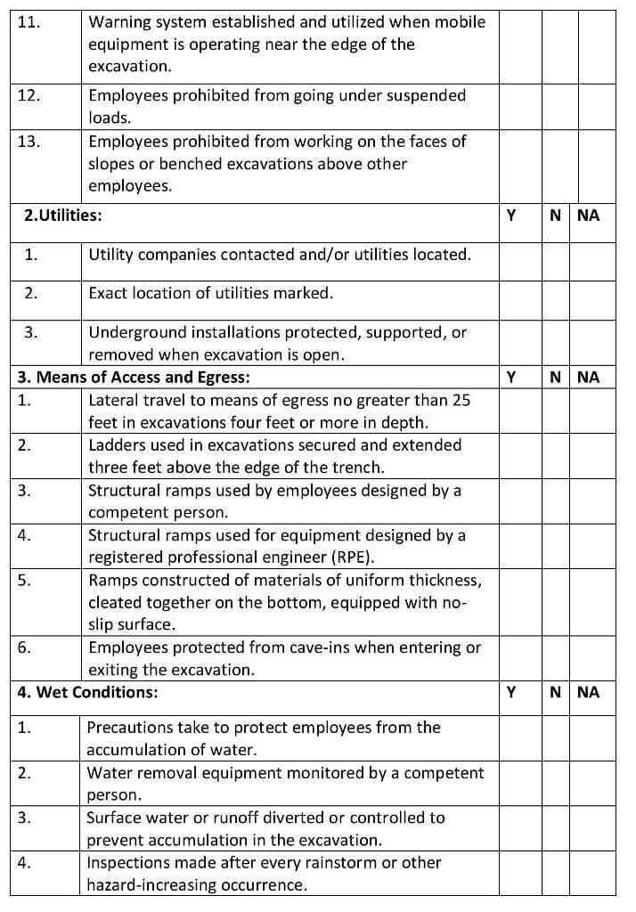 Excavation-checklist-2